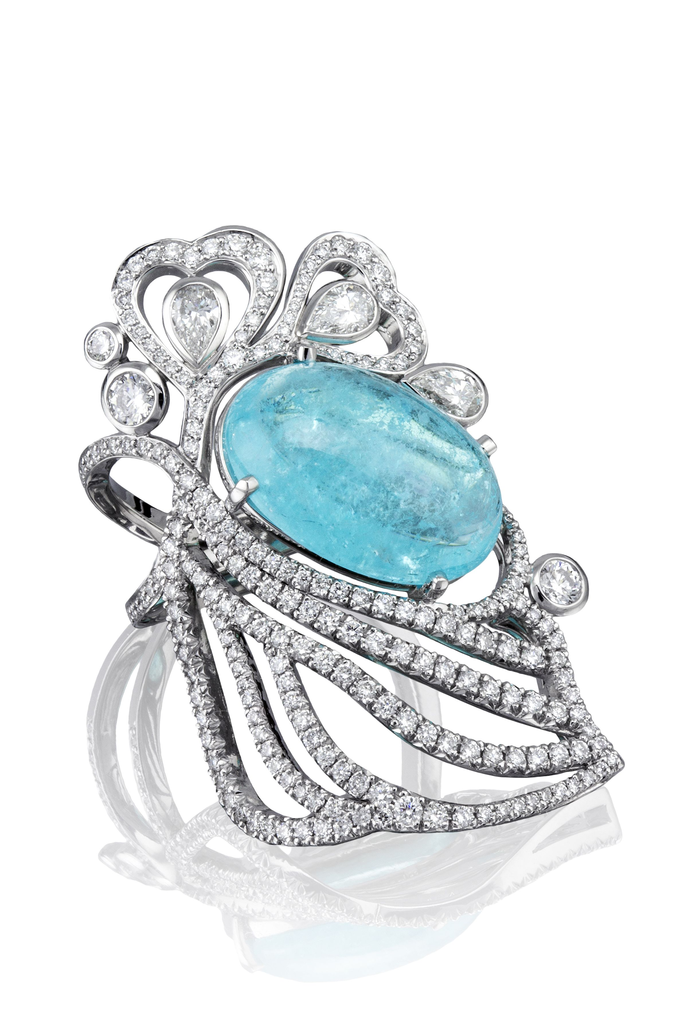 aacc66b01 The 'Atlantic Blue' ring from Boodles' 'Ocean of Dreams' collection. This  vibrant Paraiba tourmaline takes centre stage in this platinum and diamond  ...