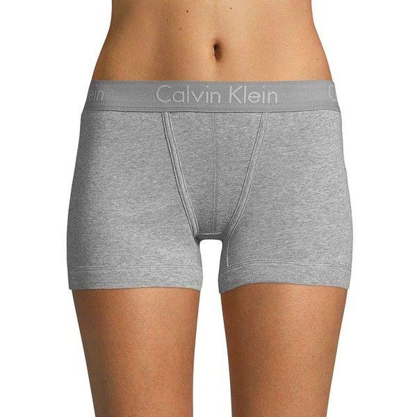 5b8832ff86f Calvin Klein Women's Body Cotton Boyshorts ($22) ❤ liked on Polyvore  featuring intimates, panties, grey, calvin klein boyshort, cotton boyshorts  and calvin ...