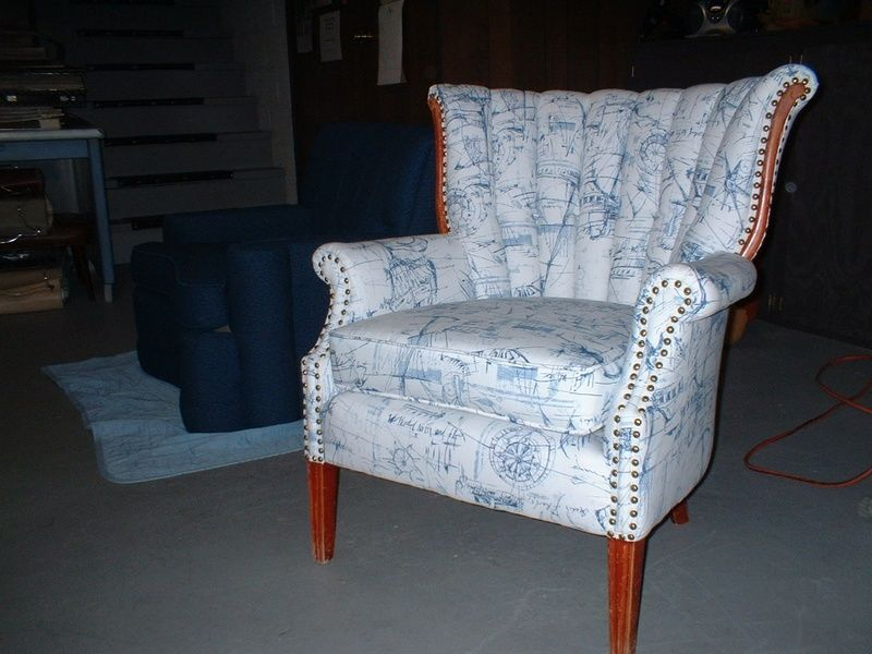 Best Nautical Upholstery Fabric Reupholstered Chair In 400 x 300