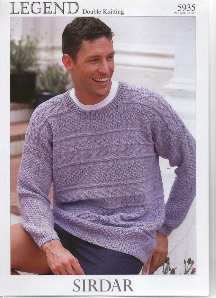 SIRDAR DK mans fancyknit sweater KNITTING PATTERN ...