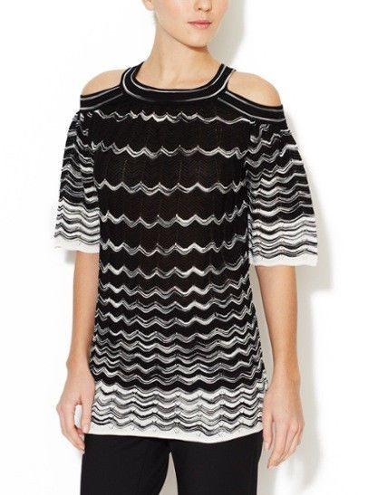 4fc07372e Missoni Dress Top Tunic Black White Zigzag #MMissoni #KnitTop  #EveningOccasion