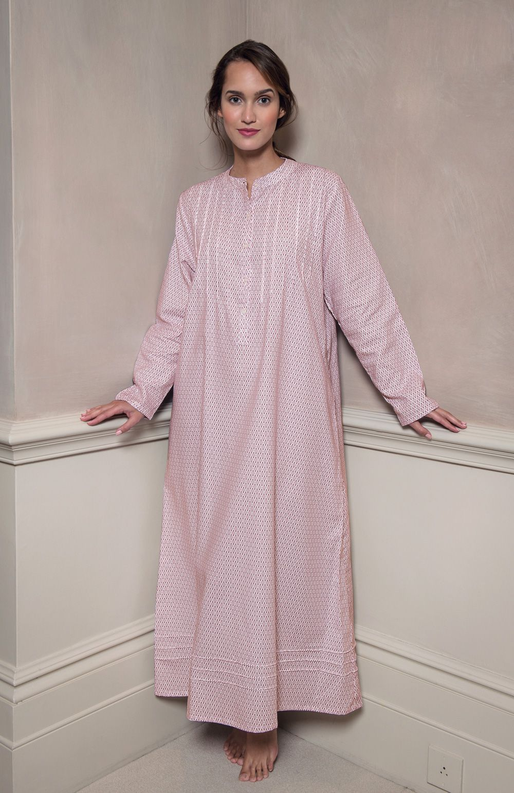570355630895 Sophie Lightly Brushed Cotton Nightdress (soph) - Berry Snowflake in ...