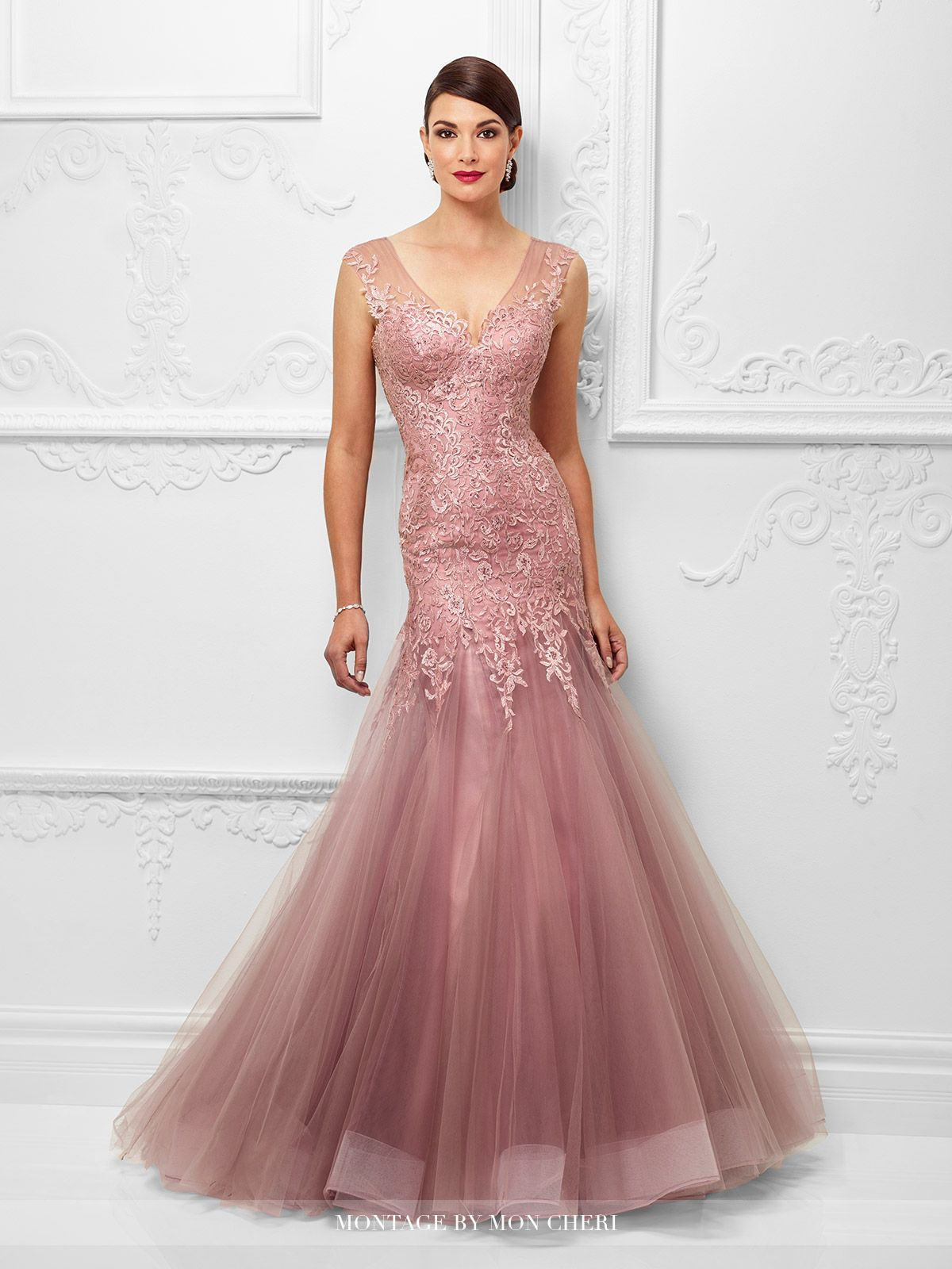 Ivonne D Exclusively for Mon Cheri - 117D65 - Tulle and lace trumpet gown  with lace trimmed illusion slight cap sleeves 1d375f3da