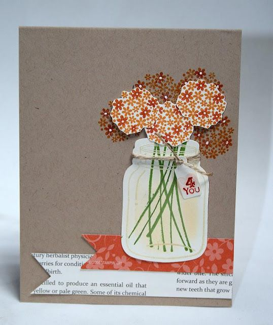 Designed by maryross: Para ti, birthday card, perfectly preserved and tiny tags from stampin up, fall colors, details and pics