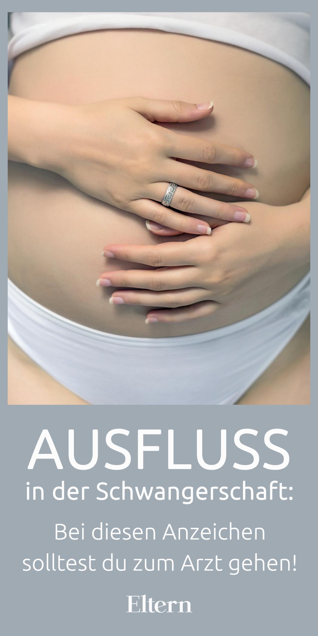 symptom der schwangerschaft ausfluss