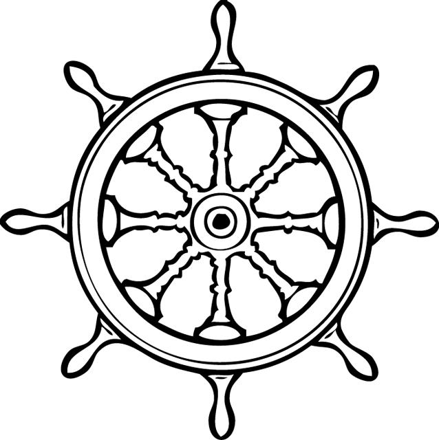Coloriage Un Gouvernail Pirate Boats Ship Wheel Tattoo Ship Wheel