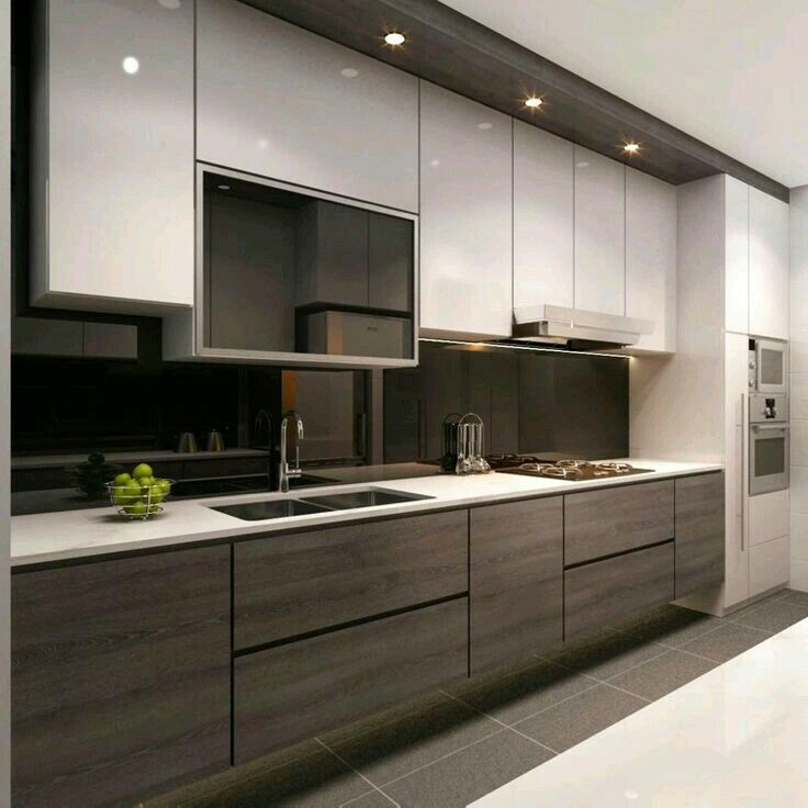 Pinтатьяна Федченко On Кухня  Pinterest  Hall Kitchens And Adorable Modern Cabinet Design For Kitchen Design Decoration