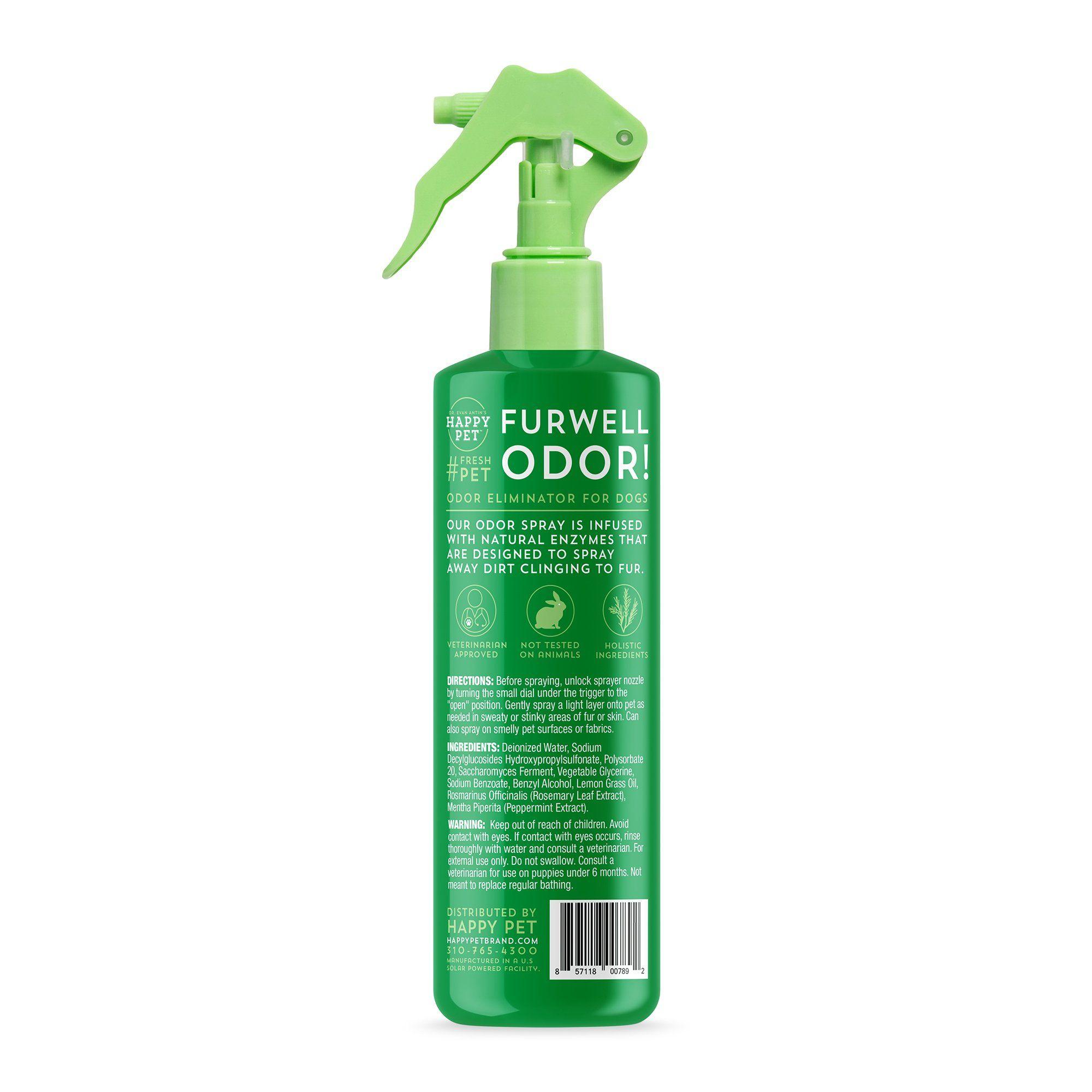 Happy Pet Furwell Dog Odor Spray One Size Fits All Green Dog
