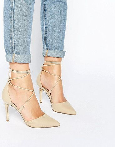Argaine lace up detail pointy pump by Call It Spring. Shoes by Call It  Spring