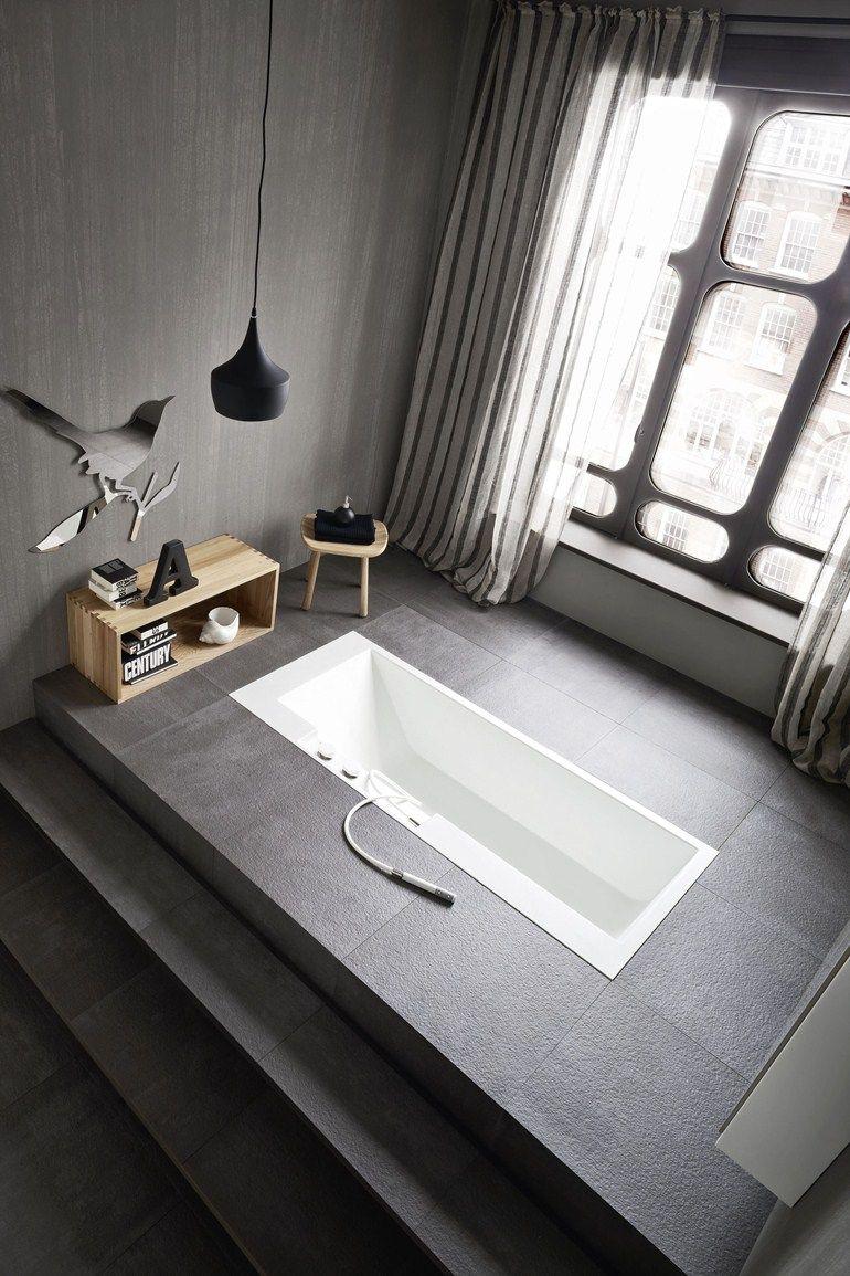 Vasca da bagno rettangolare in Corian® ERGO-NOMIC | Vasca da bagno ...