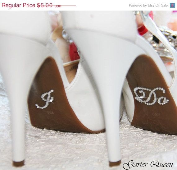 Wedding Crystal I DO /& ME TOO Shoe Stickers For Bridal Shoes Rhinestone Decals
