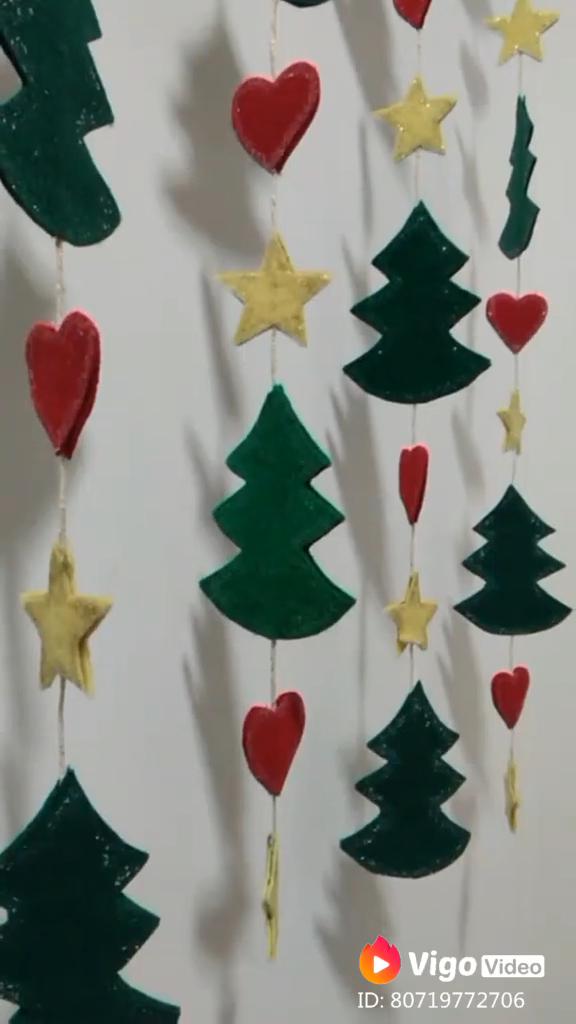Decoração de Natal - móbile de feltro #natal #feltro #artesanato #decoração #decor #xmas #christmas #craft #diy #customizando