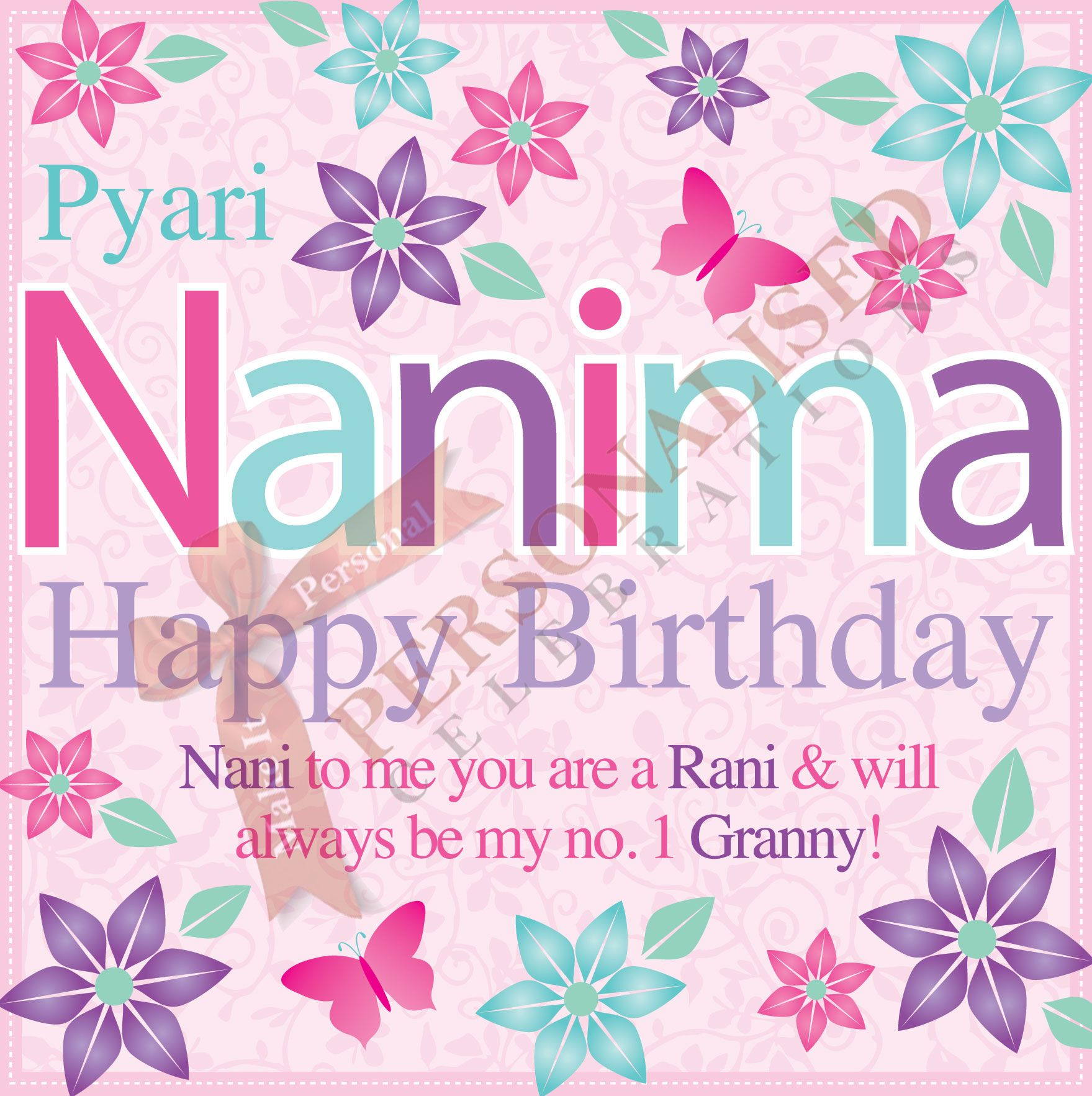 Nanima Birthday Card Buy this card online only 199 at http – Birthday Card Buy Online