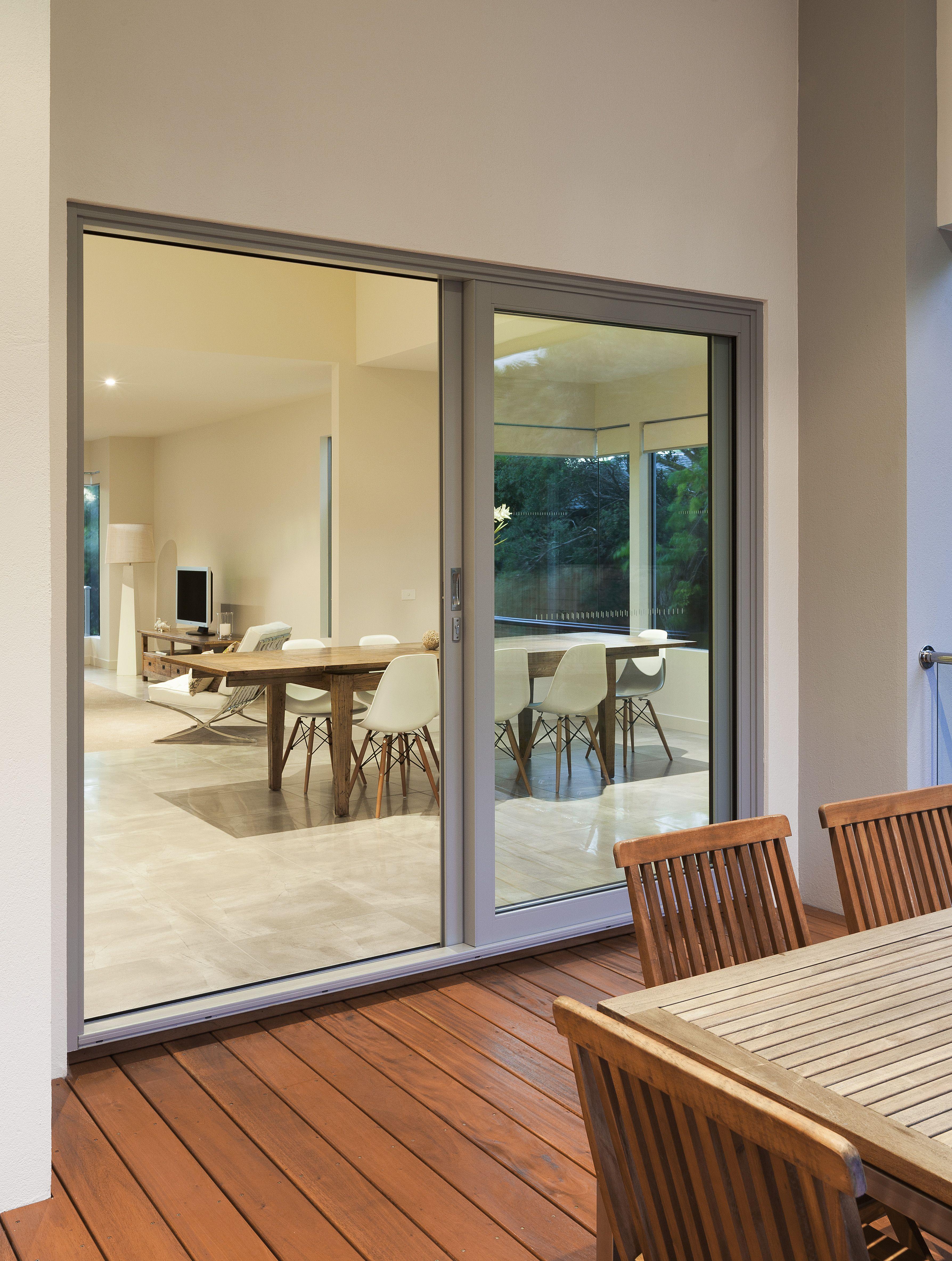 Exterior sliding door - Aluminium Sliding Door By A L Windows Supplier To Fairmont Homes