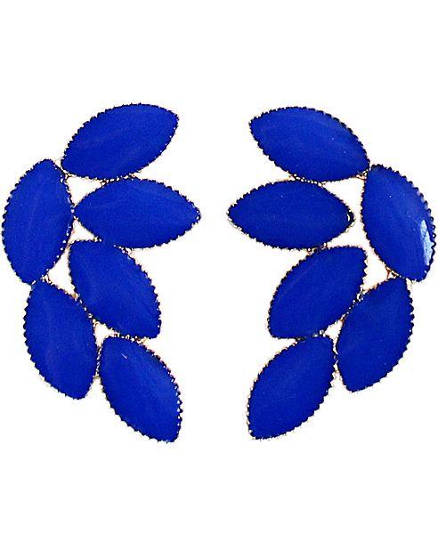 Orecchini con foglie di blu 5.63