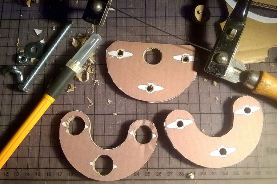 Wooden Precision Mini Router Base for Rotary Tool (with Cardboard Prototype) #guitarbuilding