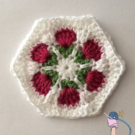 The Flower Garden Hexagon Would Be Perfect For An Afghan With