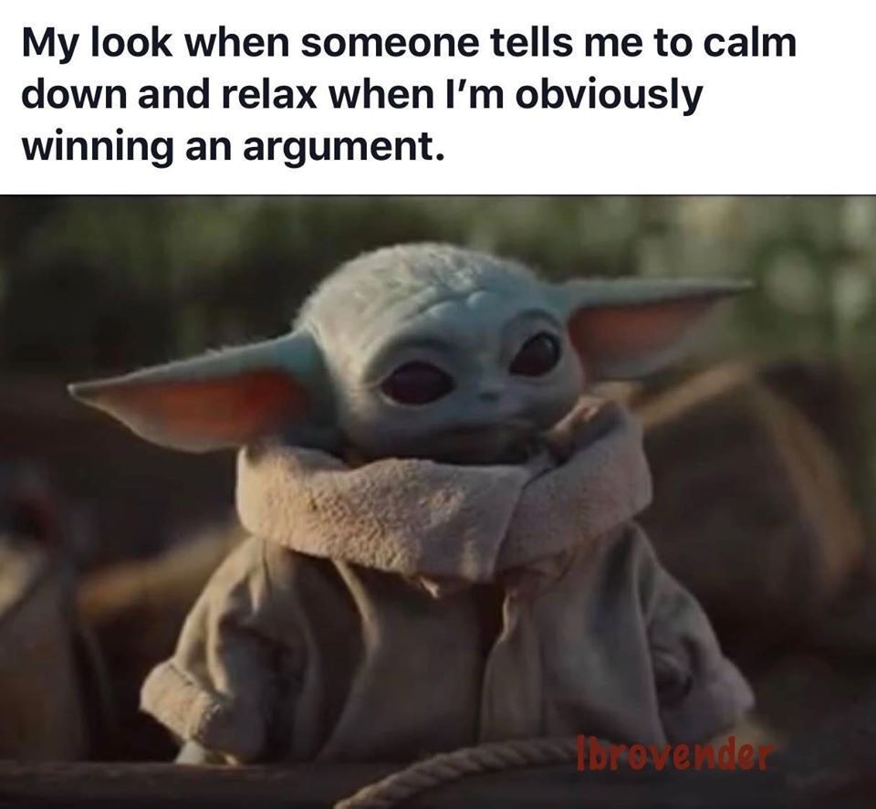 Pin By Cindy Mobley On Funny Quotes In 2020 Yoda Meme Star Wars Memes Star Wars Jokes