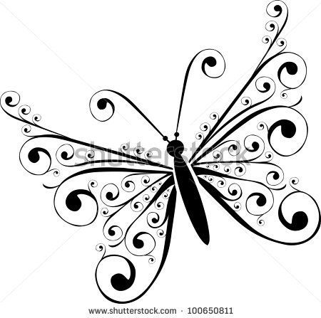 butterfly on black and white background - Google Search