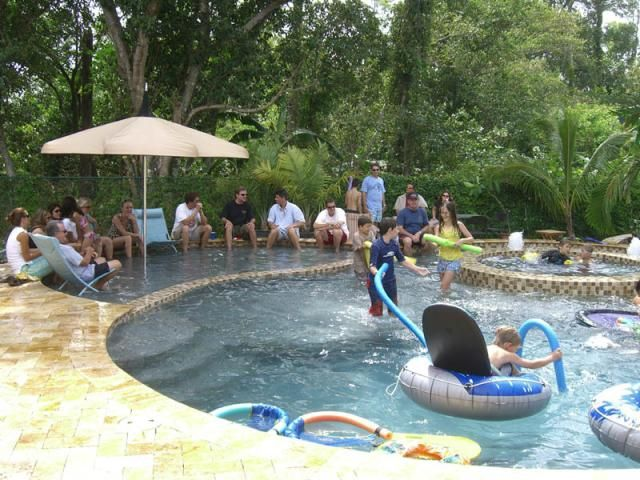 Love how they created an area to sit/chill and relax and cool off, good for adults or kids