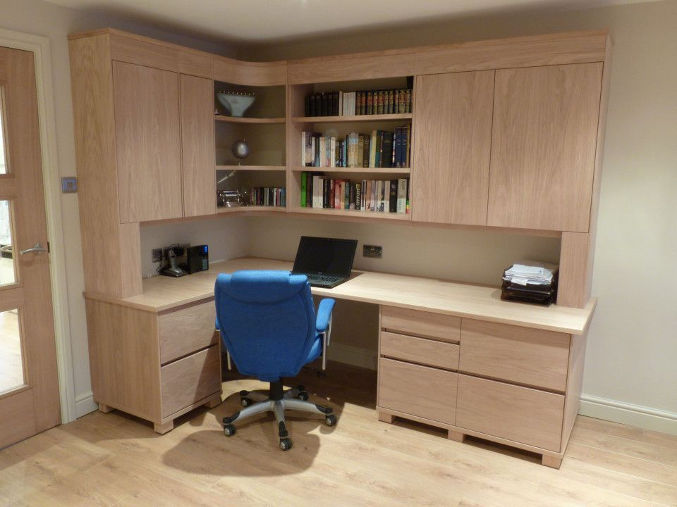 Built In Office Desk And Cabinets Diy Wall Mounted Desk
