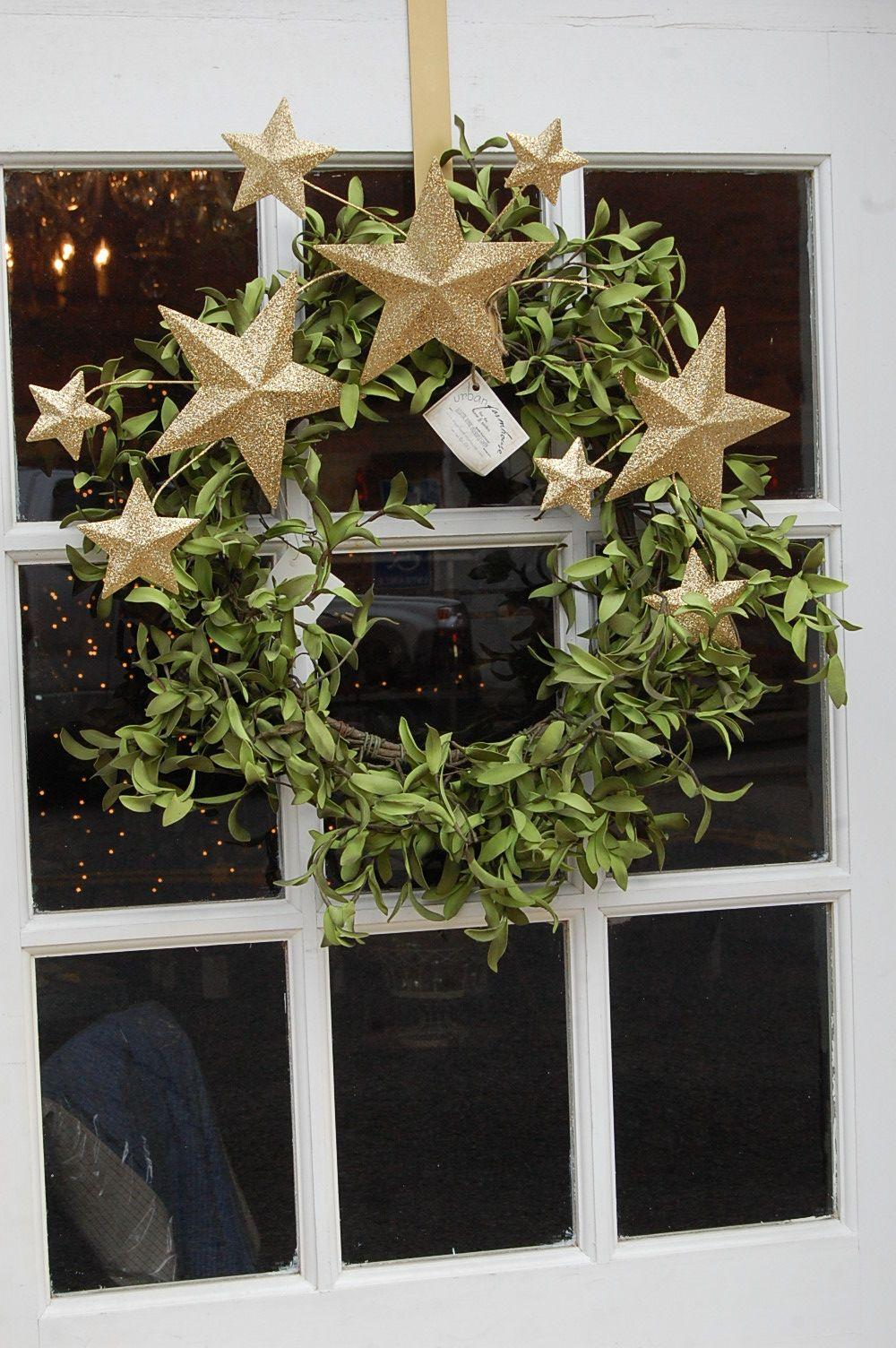 Simple Star Wreath For Christmas January Christmas