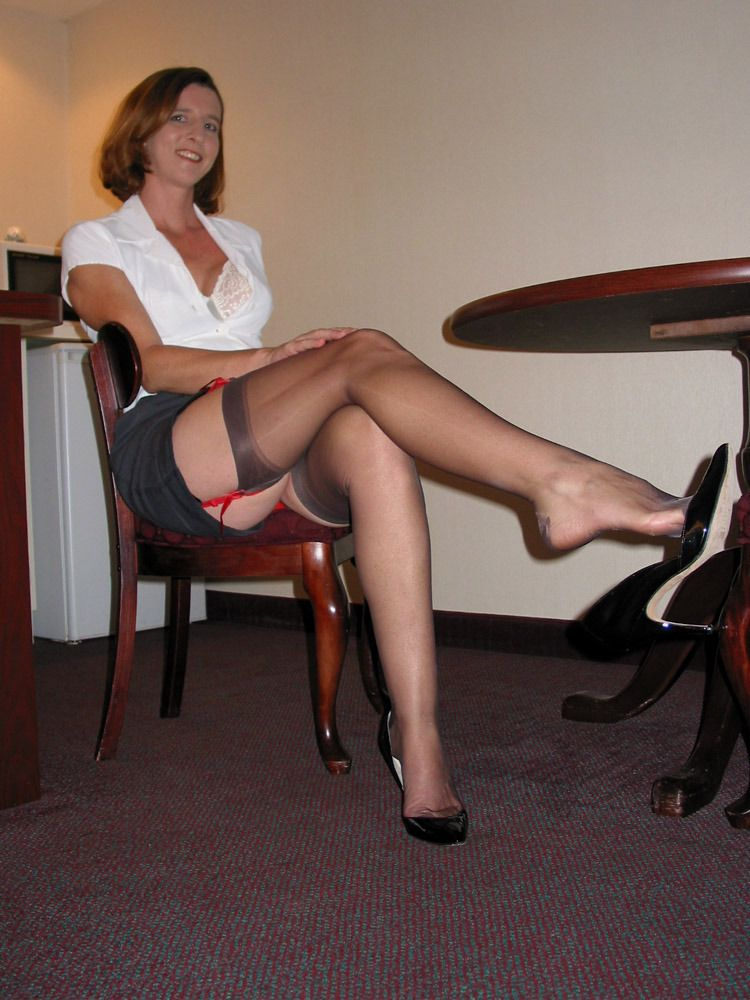 Ladies Wearing Nylon Stockings