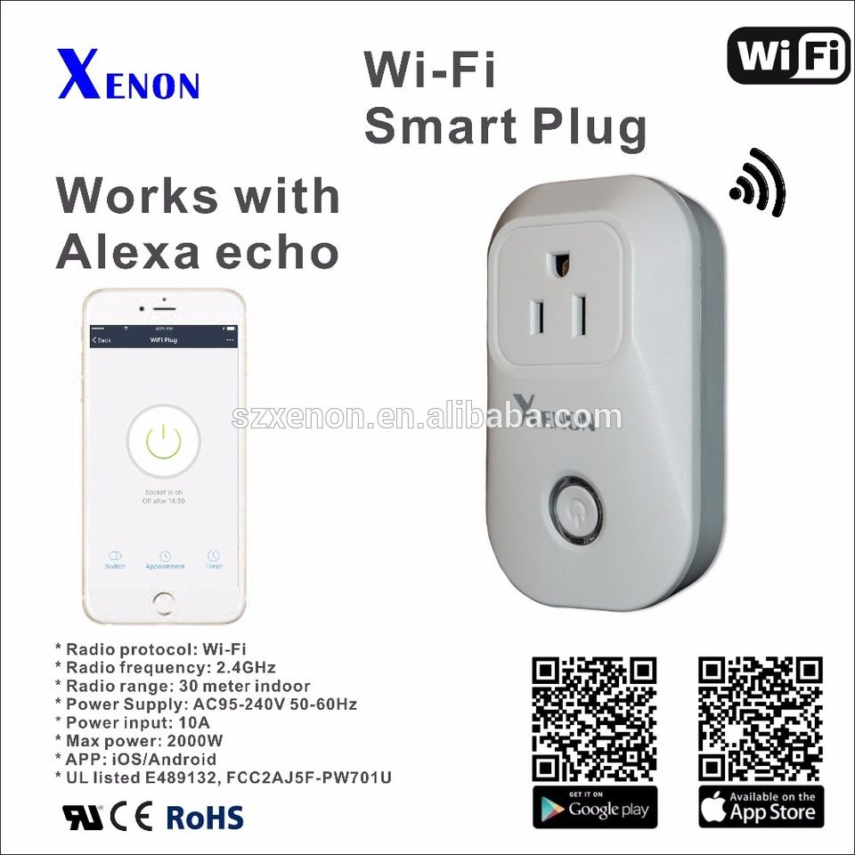 Xenon wifi smart echo wifi ups power plug socket outlet wifi plug ...