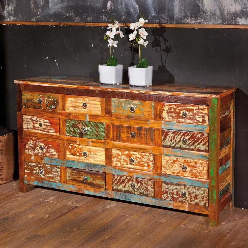 schubladen sideboard im shabby chic design bunt holz jetzt bestellen unter https moebel. Black Bedroom Furniture Sets. Home Design Ideas