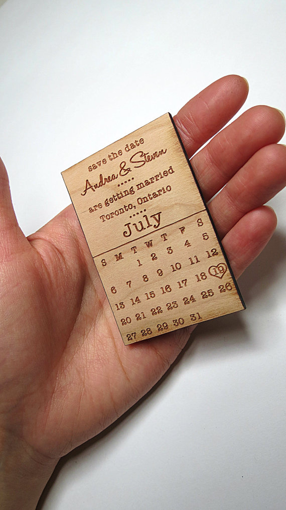 Save the Date Wedding Cards Wedding Magnet Invite GrainDeep