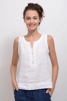 bb980300 Pin by Ngo Ha on áo kiểu | Tops, Blouse, Linen blouse
