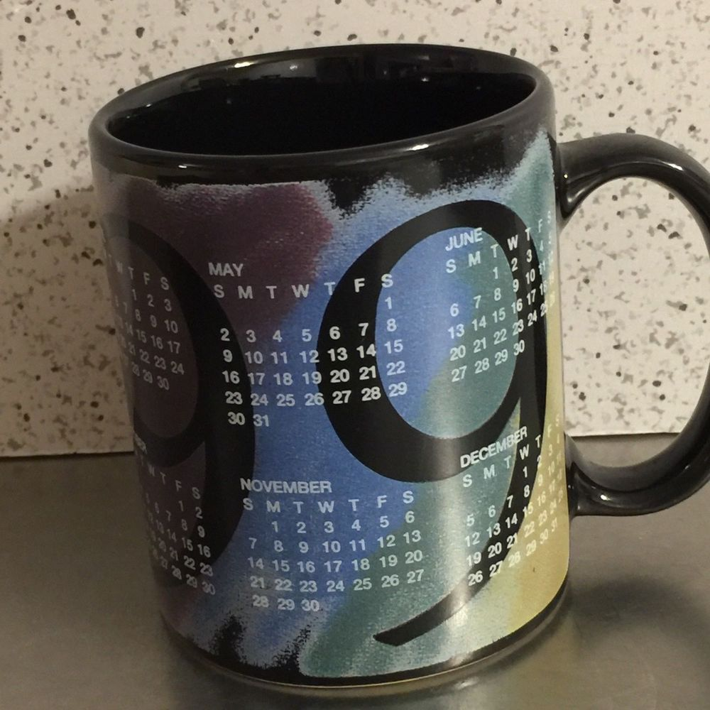 Vintage Coffee Mug 1999 Calendar Birthday Anniversary Grad Gift