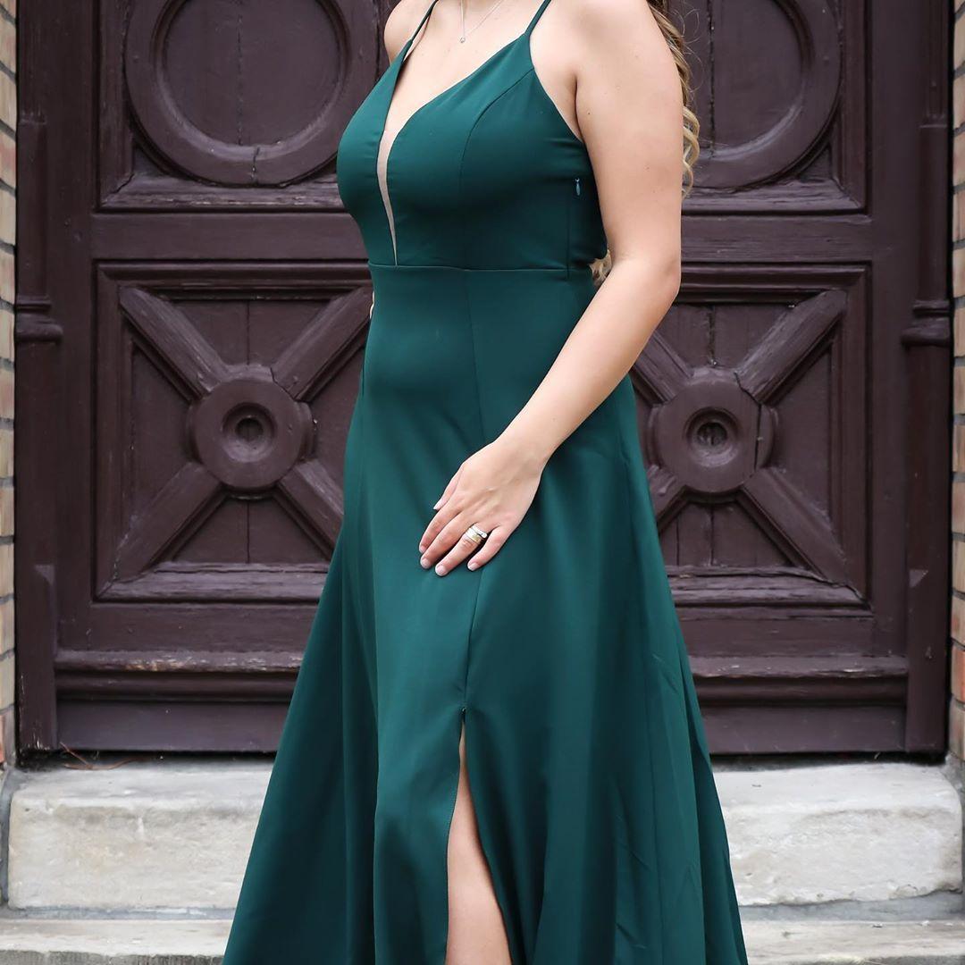 abendkleid: grüner diamant traumhaftes abendkleid mit