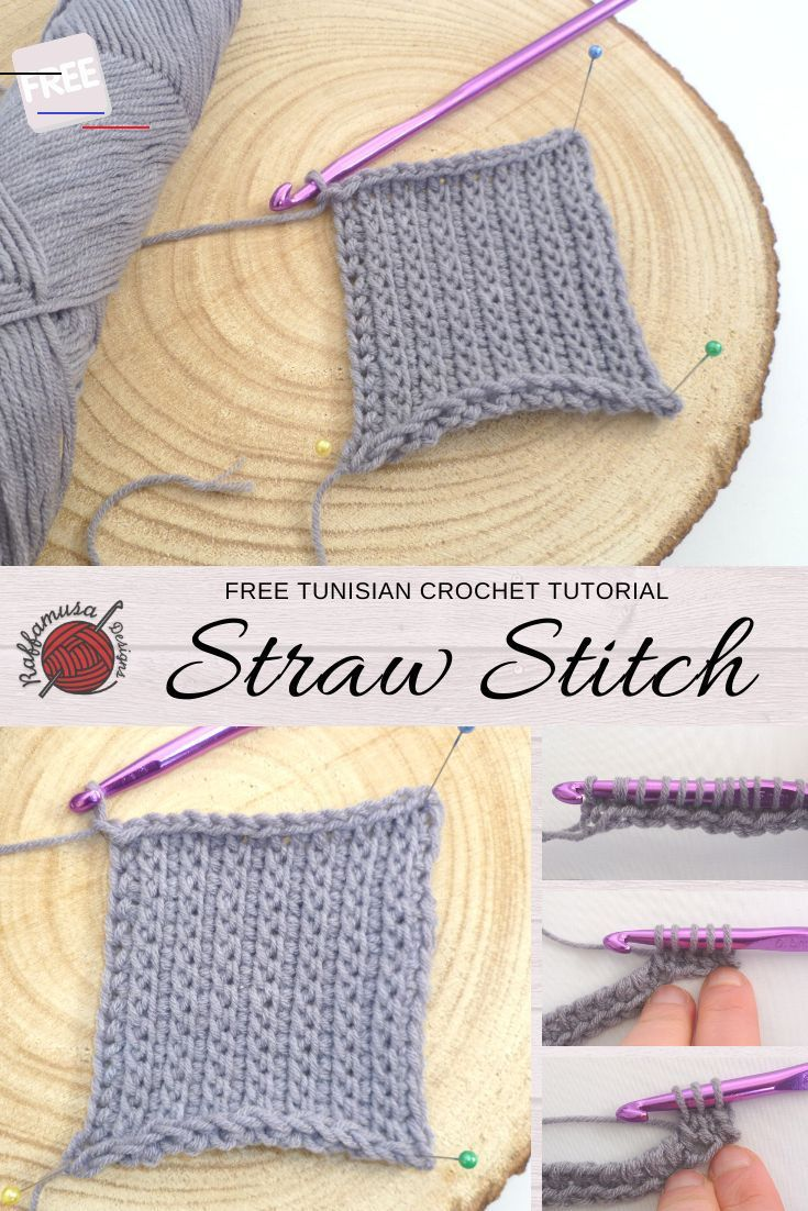 The Tunisian Crochet Straw Stitch has a vertical, flat texture. Beginner-friendly one-row repeat pattern using basic Tunisian crochet stitches. <a class=pintag href=/explore/tunisian/ title=#tunisian explore Pinterest>#tunisian</a> <a class=pintag href=/explore/crochet/ title=#crochet explore Pinterest>#crochet</a> <a class=pintag href=/explore/tunisiancrochet/ title=#tunisiancrochet explore Pinterest>#tunisiancrochet</a> <a class=pintag href=/explore/stitch/ title=#stitch explore Pinterest>#sti
