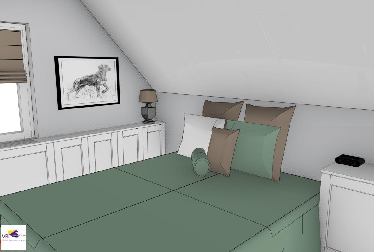 Slaapkamer in 3D | ontwerp: Monique van Koppenhagen | kleuren ...