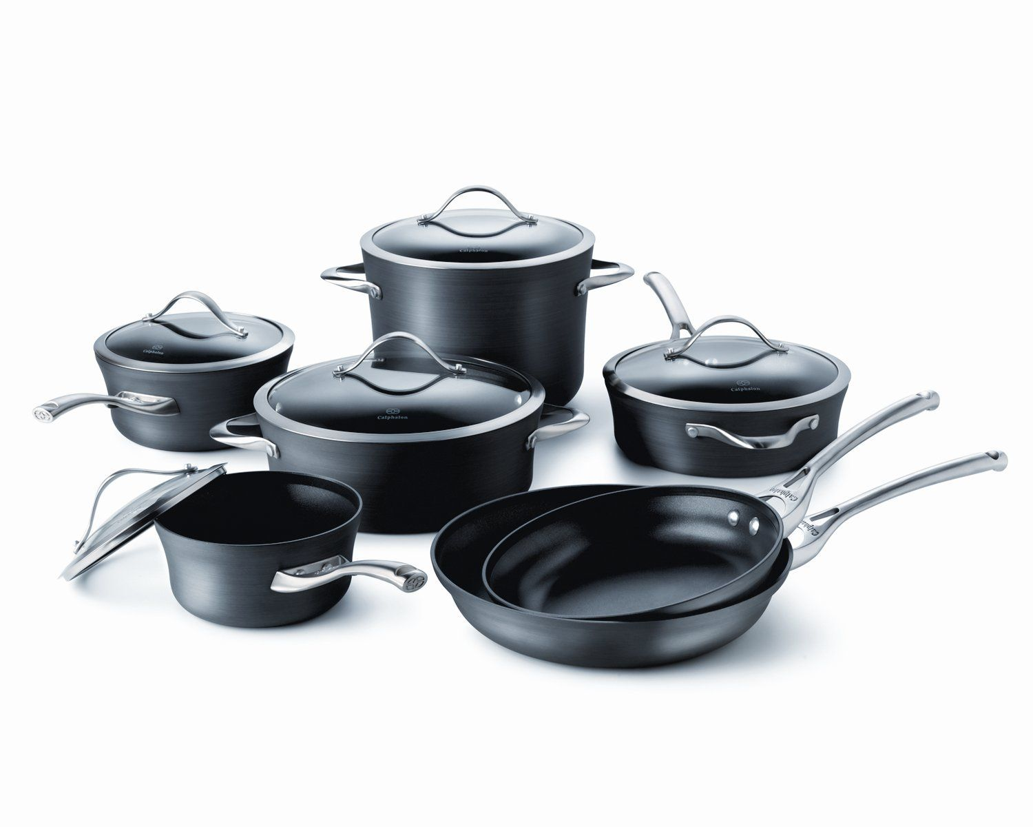 Calphalon Contemporary Nonstick 12 Piece Set Want To Know More Click On The Image Hard Anodized Cookware Calphalon Cookware Dishwasher Safe Cookware Calphalon 12 piece nonstick cookware set