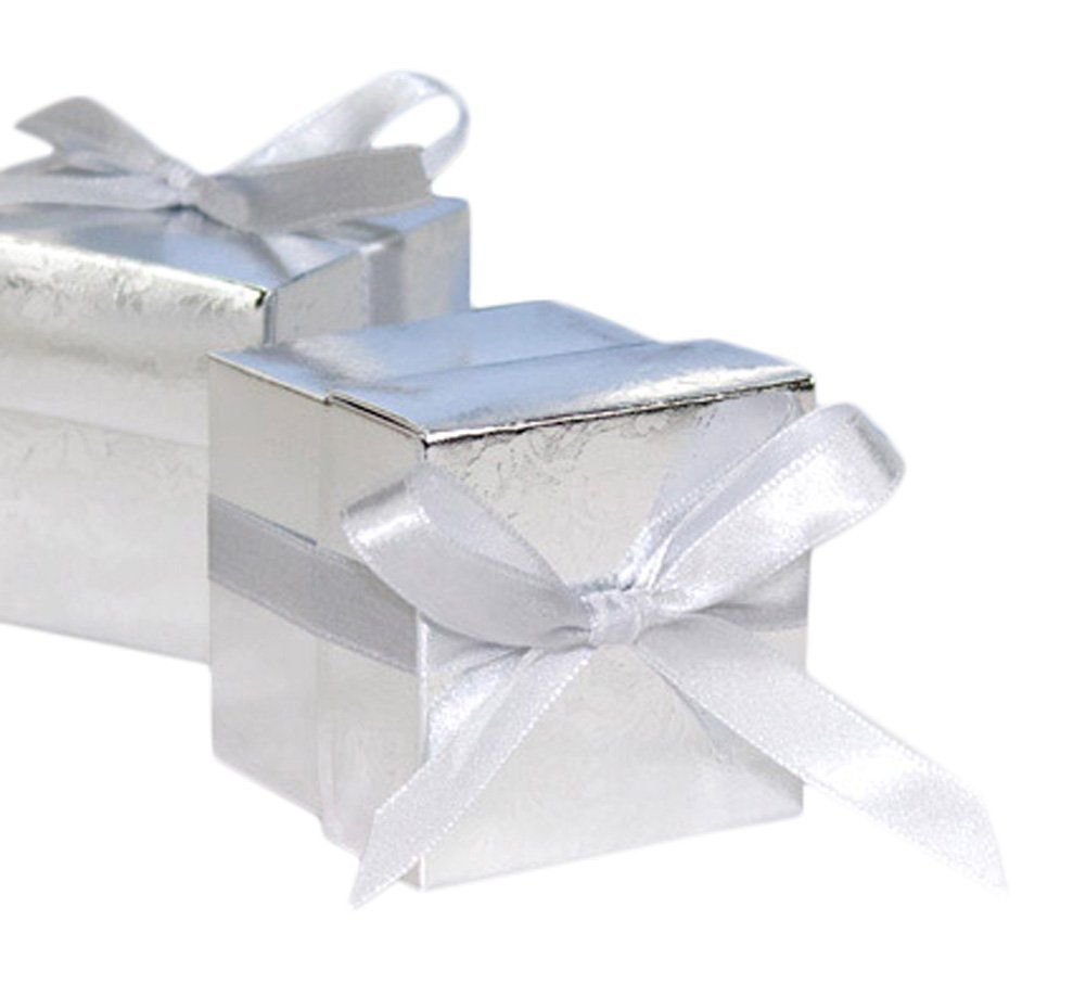 30 Mini Silver Cube Favor Boxes | Wrapping Ideas | Pinterest ...