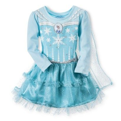 Long sleeve frozen elsa dress