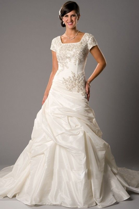 wedding dresses | Cheap Modest Wedding Dresses With Sleeves ...