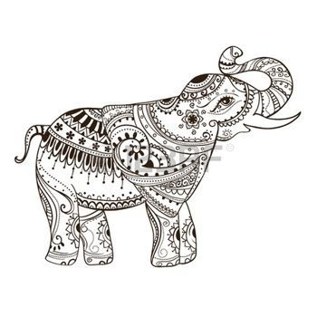 thai elephant: Greeting Beautiful card with Elephant ...