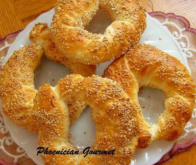 Phoenician Gourmet: Lebanese Street Bread - Kaak Bi Semsum - Simit Bread