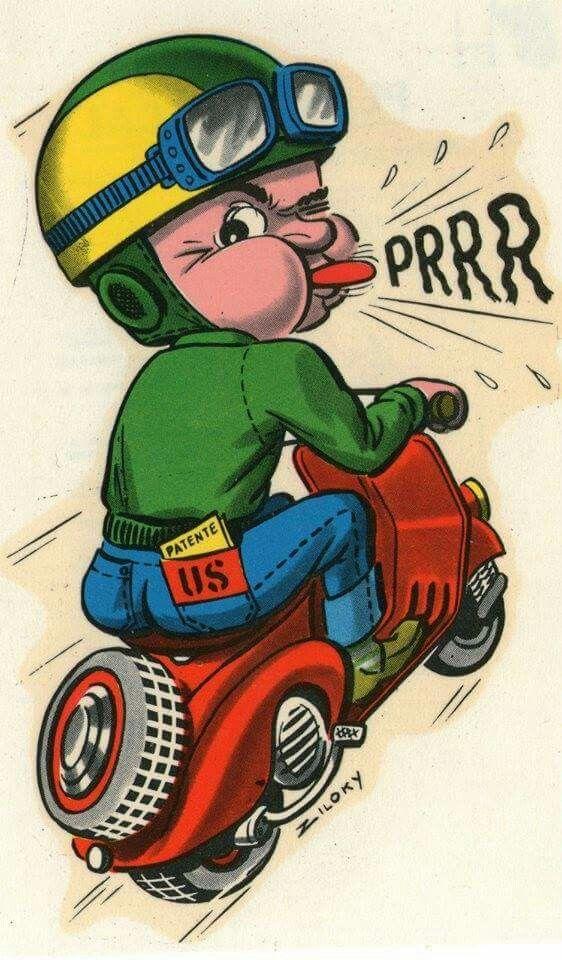 Brrrr By Zyloki Vespa Ilustrasi Komik Kartun