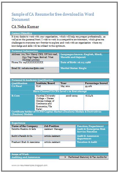 Beautiful Resume For CA (1)....find more at www.cv-resumesamples ...
