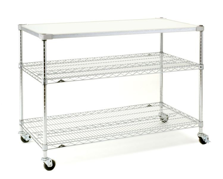 Metro Mobile Prep Table Stainless Steel Shelving Shelving Wire Shelving