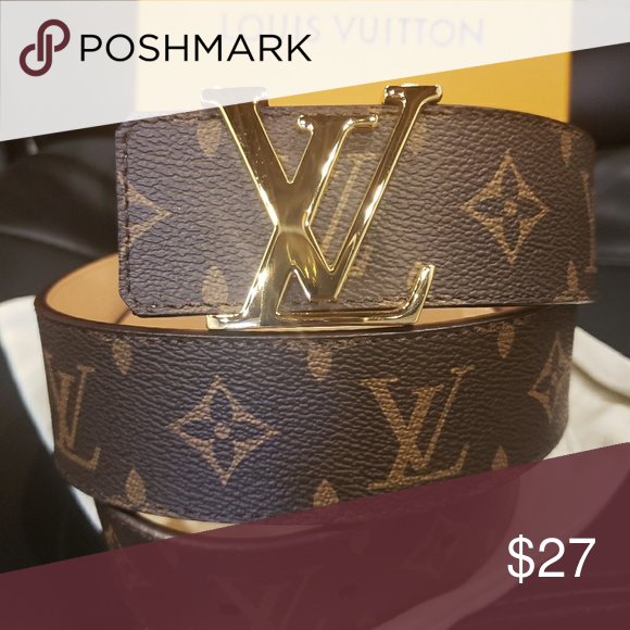 2e4e609934f 😀Authentic Louis Vuitton Belt Brown Initiales 😀Authentic Louis ...