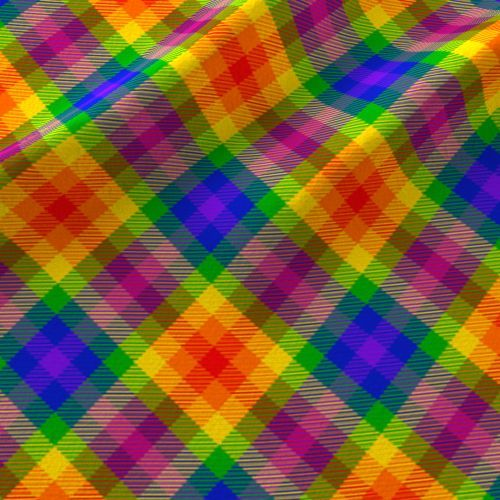 Colorful fabrics digitally printed by Spoonflower - rainbow_tartan_11