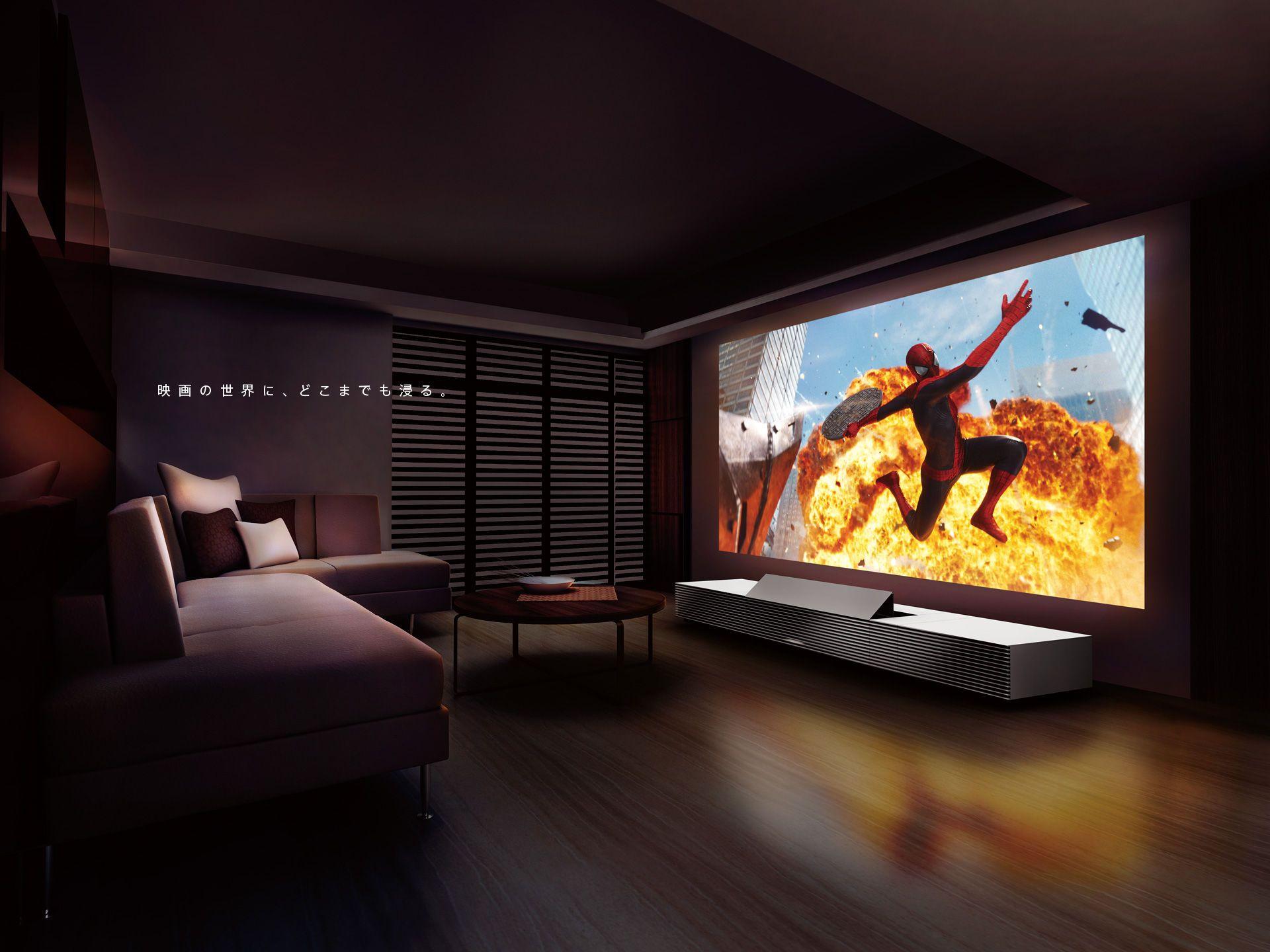 Sony Japan いつもの壁を どんな世界にも変えられる 4k超短焦点