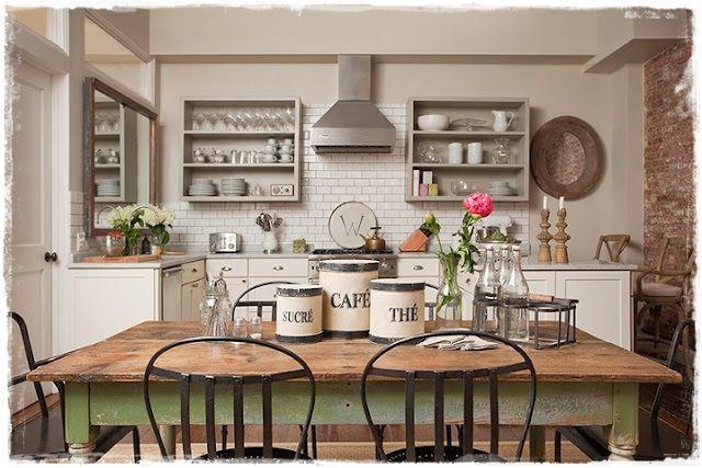 Cocinas rusticas decoracion provenzal hogar pinterest for Accesorios de cocina vintage