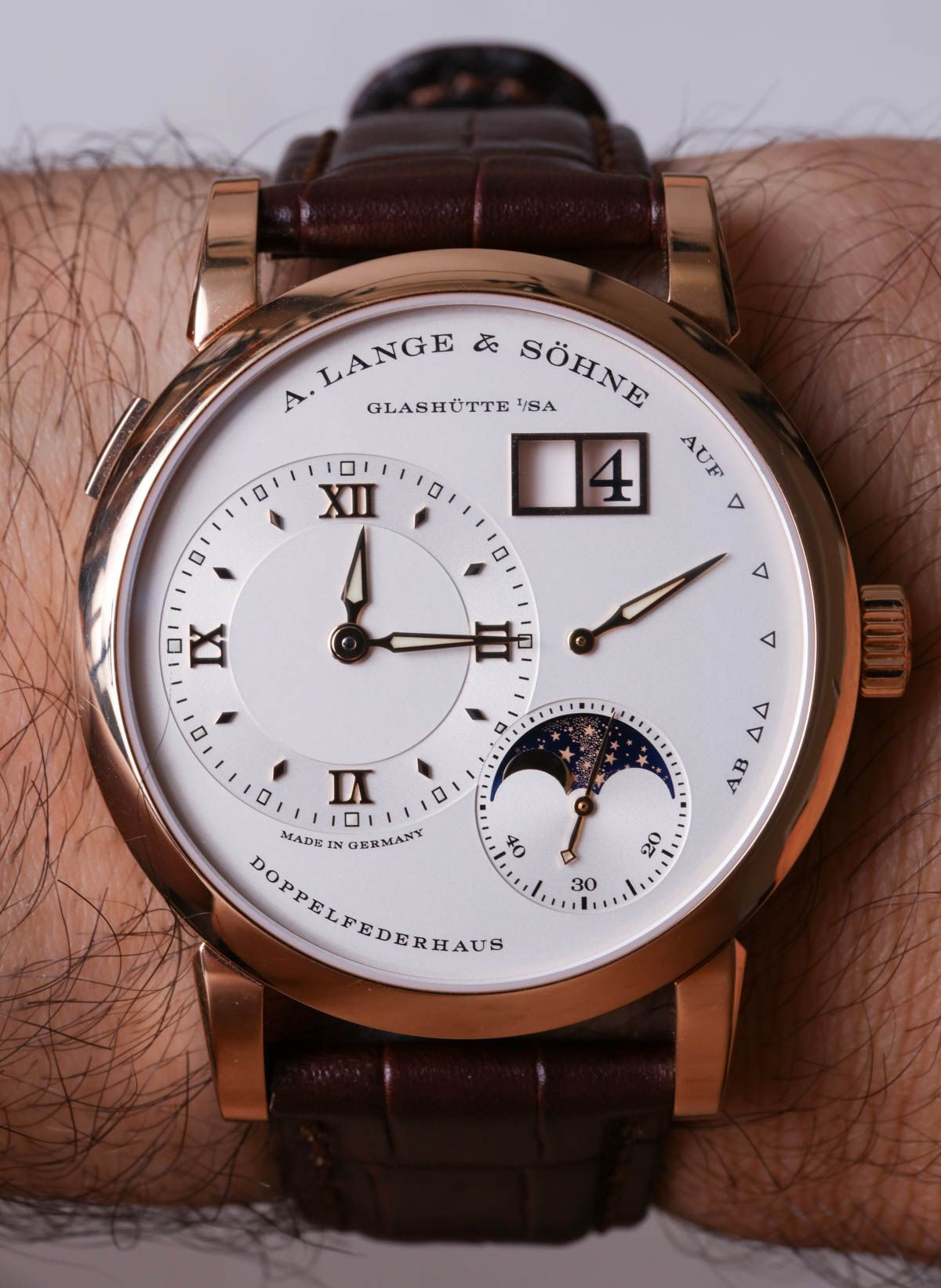 A lange and sohne lange moon phase watch review watches
