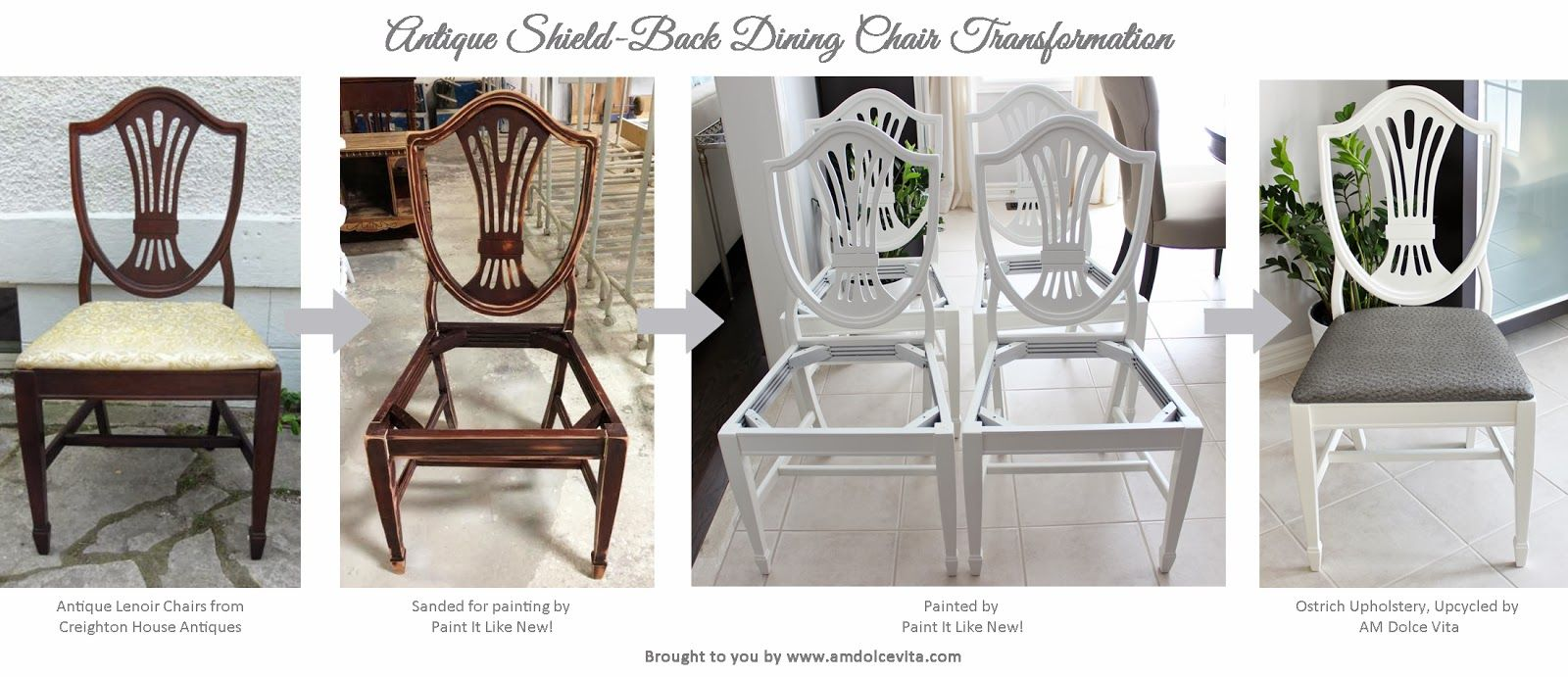 Antique Shield Back Chair Transformation Chair Dining Chairs